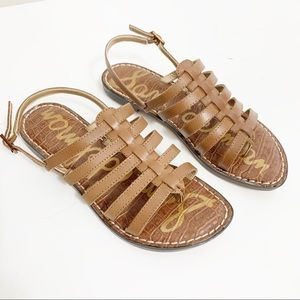 Sam Edelman Garland Strappy Sandal brown  6 $90